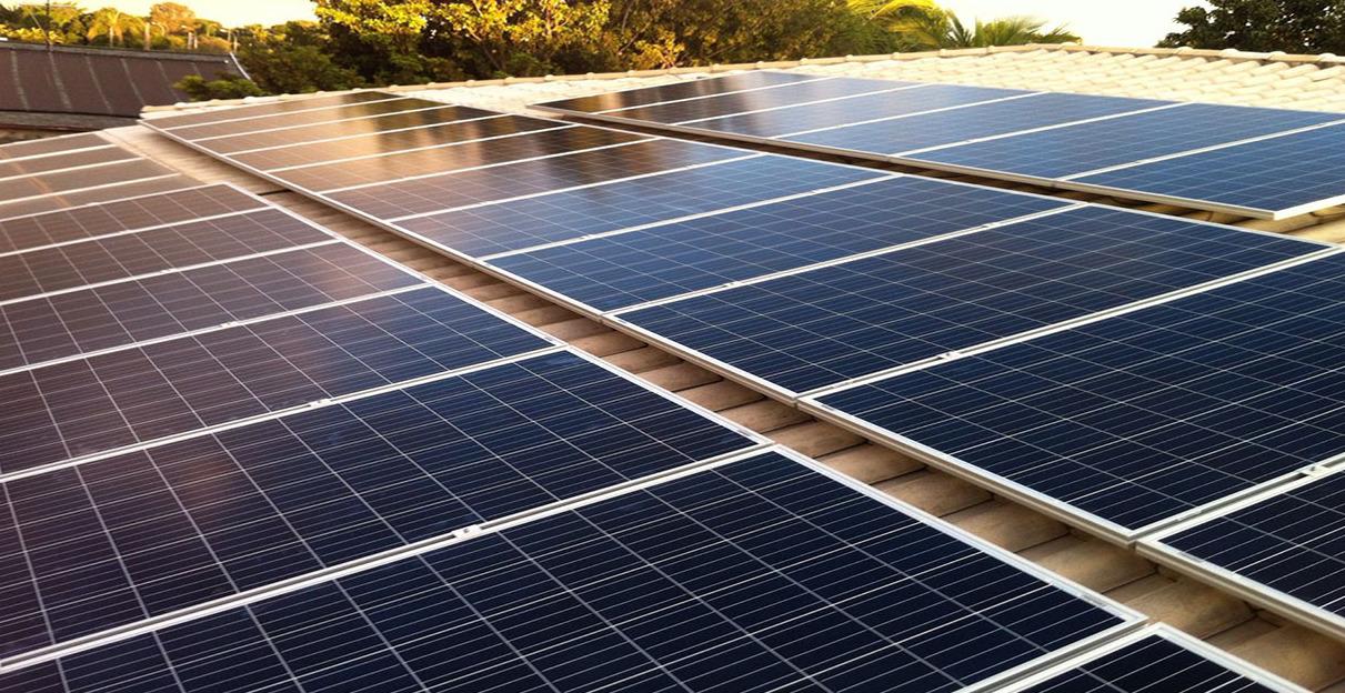 Modulo Solar no Telhado